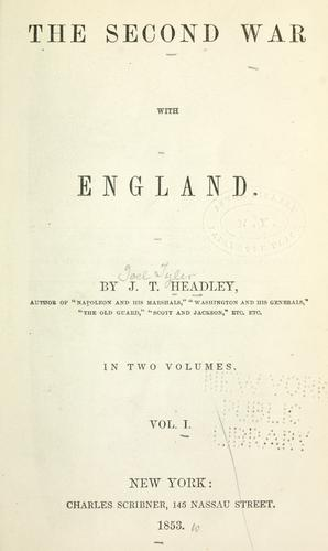 The second war with England.