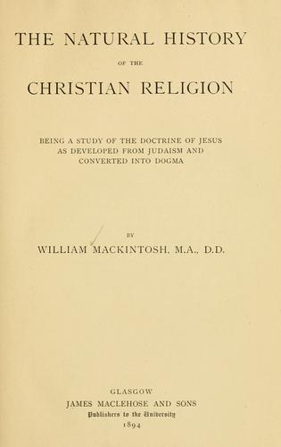 The natural history of the Christian religion