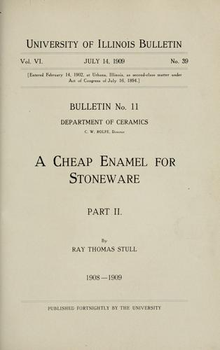 A cheap enamel for stoneware by R. T. Stull