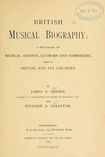 British musical biography