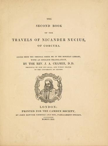 The second book of the travels of Nicander Nucius of Corcyra by Nucius, Nicander