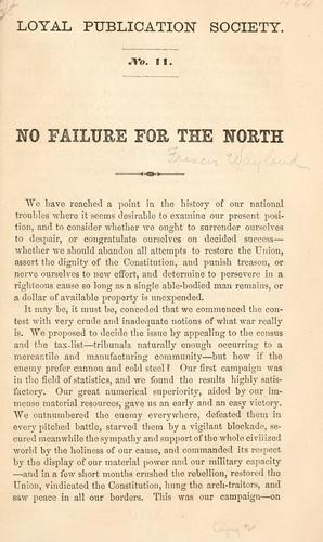 No failure for the North by Francis Wayland