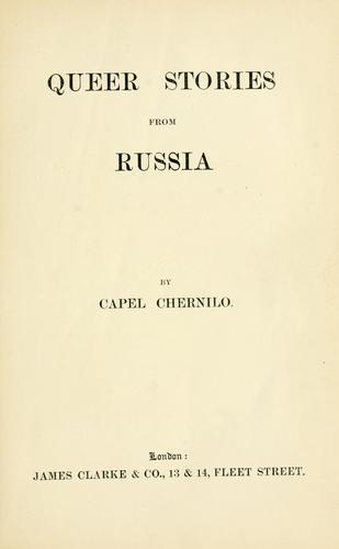 Queer stories from Russia by Capel Chernilo