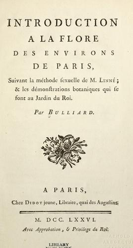 Flora Parisiensis by Bulliard, Pierre