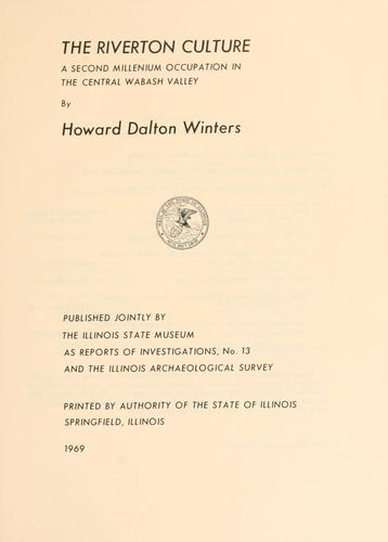Monograph by Illinois Archaeological Survey.