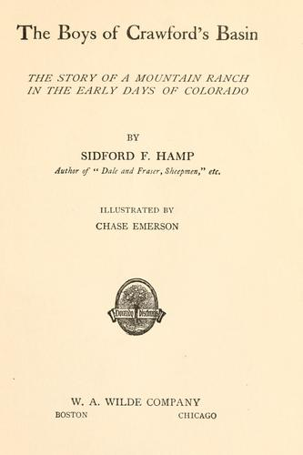 The boys of Crawford's Basin by Sidford Frederick Hamp