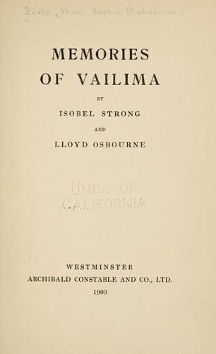 Memories of Vailima