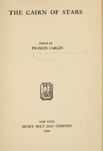 The cairn of stars by James Francis Carlin MacDonnell