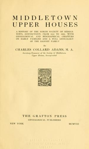 Middletown Upper Houses by Charles Collard Adams