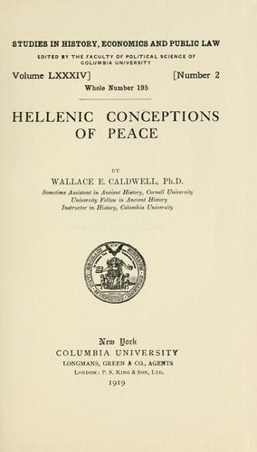 Hellenic conceptions of peace
