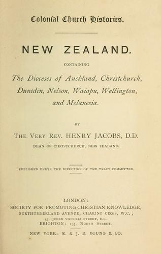 New Zealand by Jacobs, Henry.