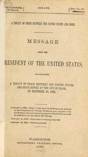 A treaty of peace between the United States and Spain.