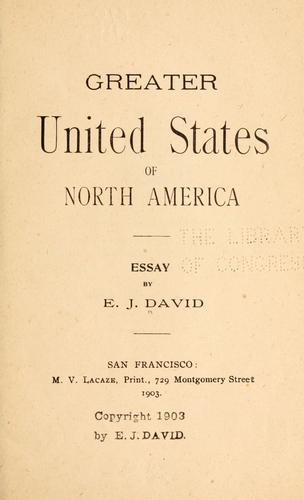 Greater United States of North America by Etienne Joseph David