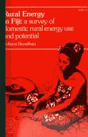 Rural energy in Fiji by Suliana Siwatibau